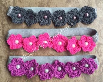 Flower chained headband