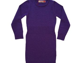 Knit Dress CARLA in Plum