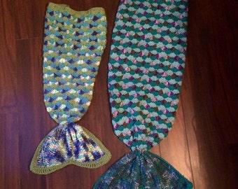 Mermaid Crochet Blanket -Toddler - Made to Order