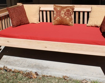 Brand New Cedar Patio Daybed in Traditional style, Twin Size Outdoor Bed - Free Shipping