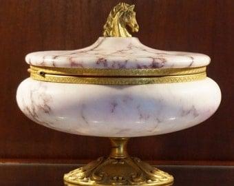 Marble Vanity or Powder Box