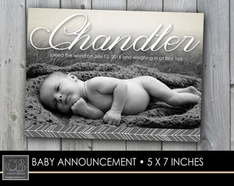 CUSTOM PHOTO CARD...5x7...birth announcement