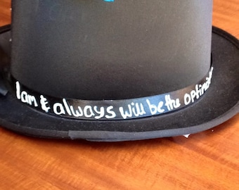 Dr Who quote steampunk top hat