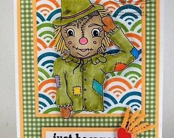 Digital stamp colouring image - OZ Hayman Scarecrow. jpeg / png
