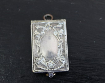 Vintage Sterling Parisian Locket with tiny pictures of landmarks of France