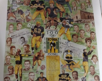 100 Years of Iowa Football poster