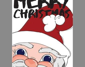 Santa Christmas Cards, Christmas Cards, Holiday Cards