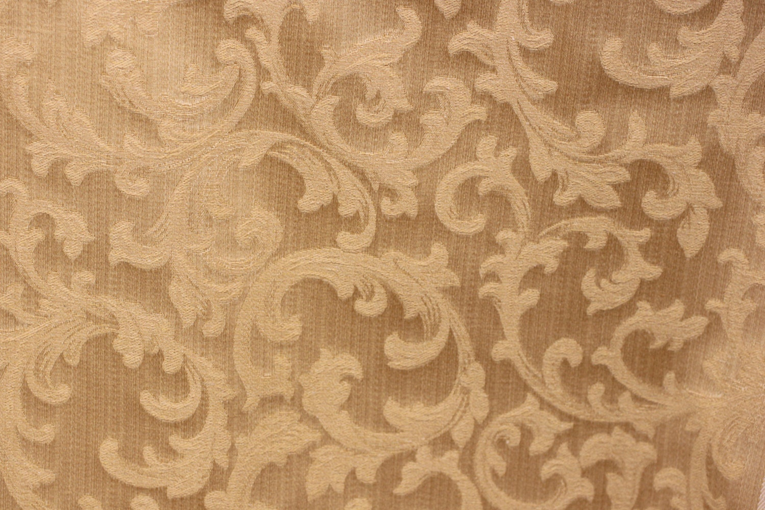 Scroll Fabric Gold Tone On Tone Fabric 54 Wide For