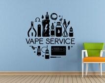 Vaping My Life E Cigarette Vape Service Shop Bar Store Vapor Cloud Window Wall Decal Vinyl Sticker Mural Room Decor L1725