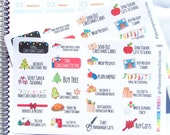 Christmas Functional To Do Planner Stickers for Erin Condren Life Planner (ECLP) Reminder Sticker 1883