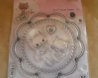 Gorgeous unused clear stamp Little meow