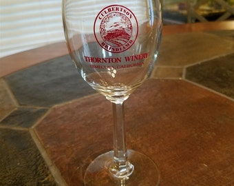 THORTON WINERY stemmed wine glass