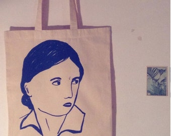 Screenprinted tote bag
