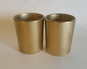 Gold votive candle holders - set of 2