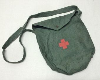 Soft Military bag red cross halloween costume doctor nurse surgeon costume  shoulder bag army messanger bag red cross bag first aid bag