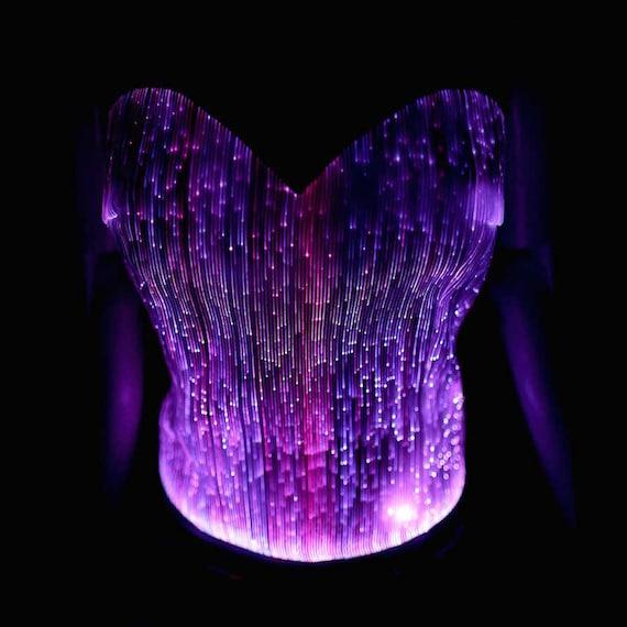 led fiber optic light up clothing sexy clubwear edm rave. Black Bedroom Furniture Sets. Home Design Ideas