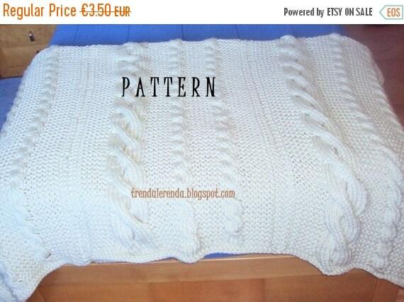 Patr n manta de trenzas tejida a dos agujas por for Mantas de lana hechas a mano