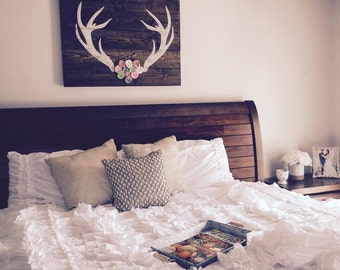 Rustic Chic Antlers Sign