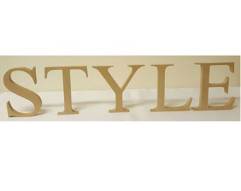Wooden unpainted individual free standing 20cm letters