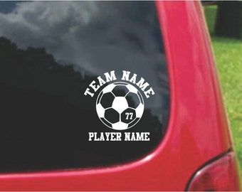 Set Soccer Sports Decals with custom text Fundraising  20 Colors To Choose From.  U.S.A Free Shipping