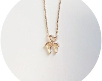 Flamingo Heart Necklace
