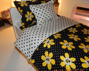Doll Bedding - Bumble Bees