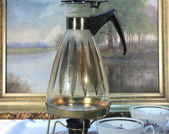 Pyrex Carafe, Candle Warmer, 12 cup, Coffee Carafe, 1960s, Retro Kitchen