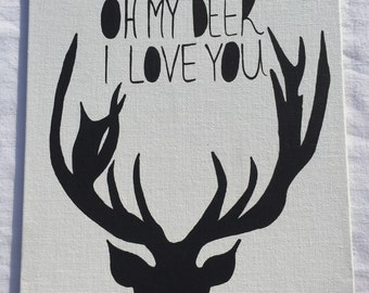 Oh my deer I love you painting