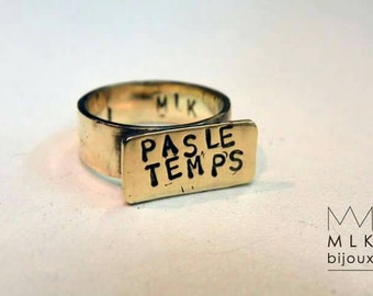 Ring custom message
