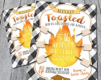 S'mores Bonfire Party Invitation (Digital)