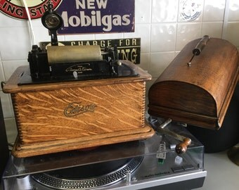 Stunning, 1905 Edison Standard Phonograph with Extras!