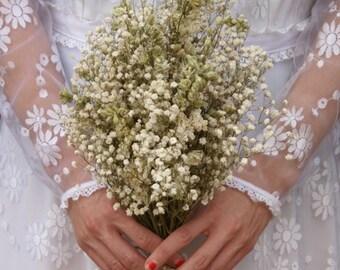 Boho Purity Dried Flower Bouquet