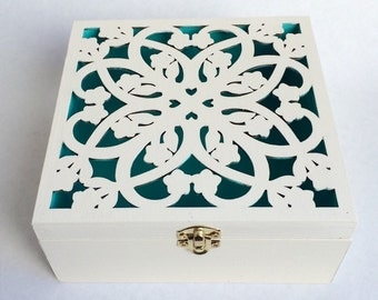Ring bearer box - wedding box - custom large ring bearer box