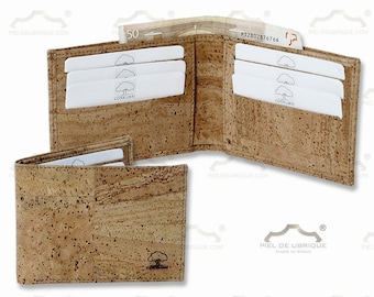 Cork wallet, card holder and wallet