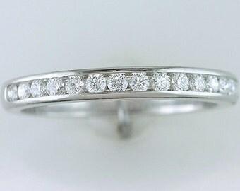 Tiffany & Co. 1/4ct Diamond Platinum Wedding/Anniversary Ring Band