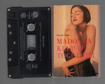 Vintage Cassette Tape : Cassette Single - Madonna - Keep It Together  91-99864