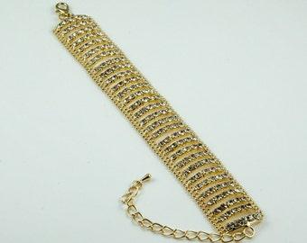 Rina Gold Crystal Bracelet