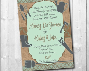 Honey Do Shower Invitation / DIGITAL FILE / printable / wording and colors can be changed