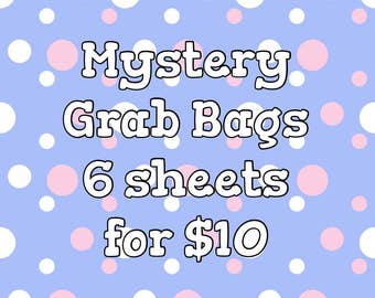 Mystery Grab Bag (6 sticker sheets) - Planner Stickers for Erin Condren Planner