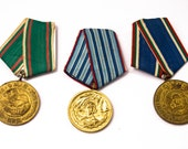Vintage military Bulgarian Medal Lot of 3pcs, Pin Sword War Trophy, OHTTEAM, Communist memorabilia Ussr Soviet