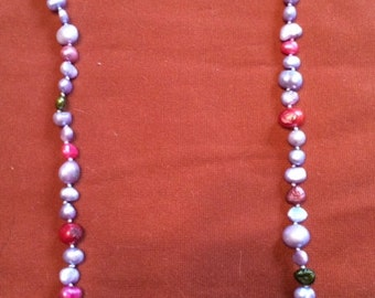 Lavender Cultured Pearl Necklace