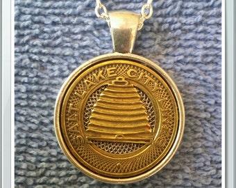 Salt Lake City Token Pendant Necklace Handcrafted