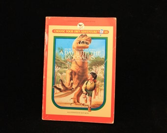 Choose Your Own Adventure, A Day With The Dinosaurs, Edward Packard, Bantam 1988