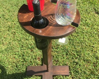 Wine Table, folding wine table, gift for wine lovers, wooden wine table, vineyard table, vineyard wine table,