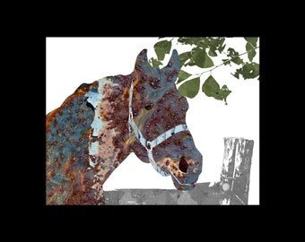Metallic Horse Print