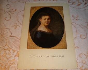 Dutch Masters Art Postcards Vintage 1963 Prints Wall Art Collectible Unique Gift