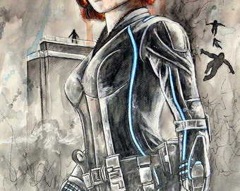 Black Widow Artwork Print