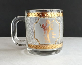 Vintage Roy Rogers Commemorative Glass by Libbey, Collectible Roy Rogers and Trigger Glass
