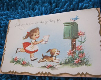 Birthday Card Greeting  Unused