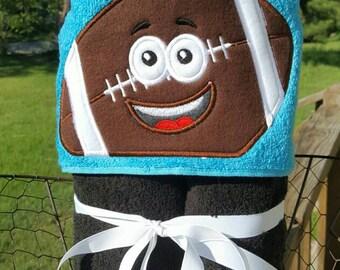 Football/ Carolina Panther Hooded Towel